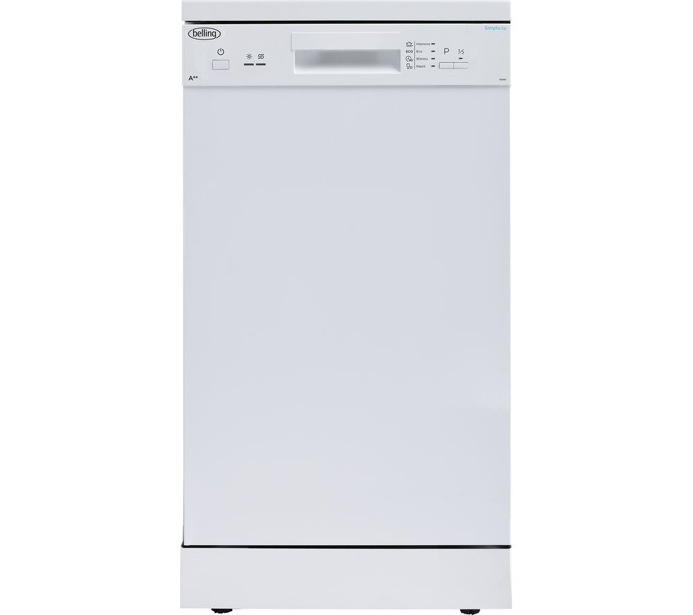 BELLING FDW90 Slimline Dishwasher - White