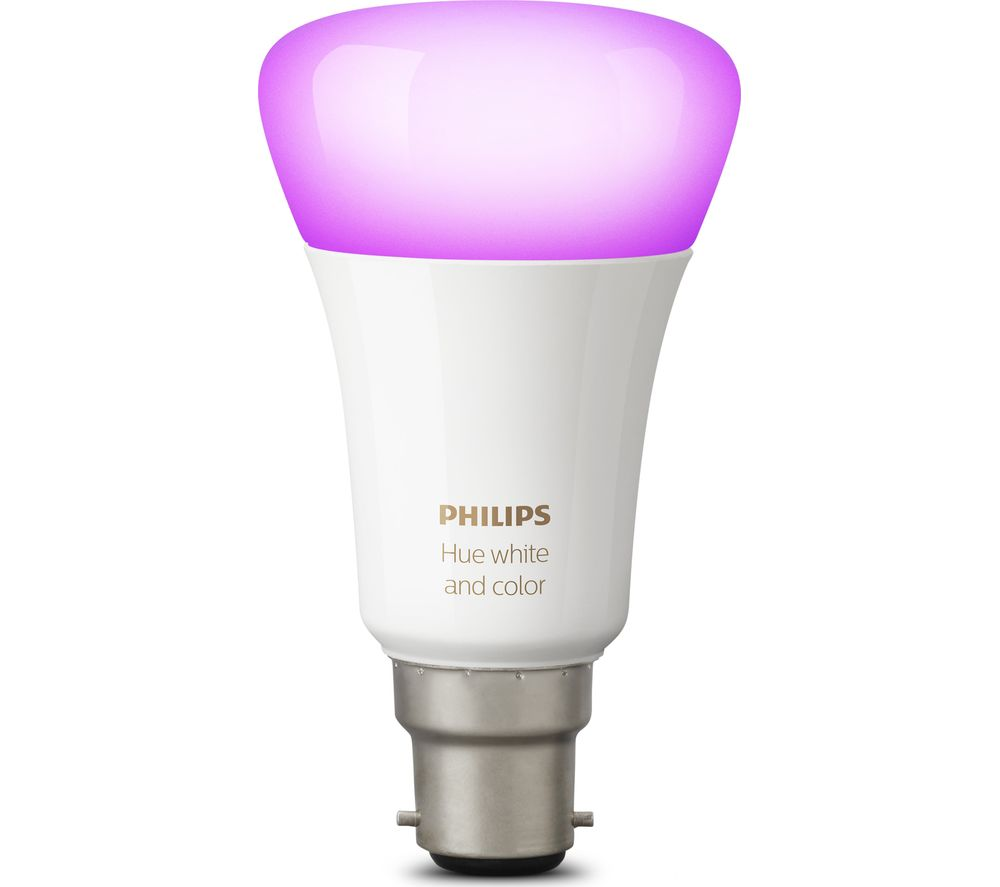 PHILIPS Hue White & Colour Ambience Wireless Bulb - B22