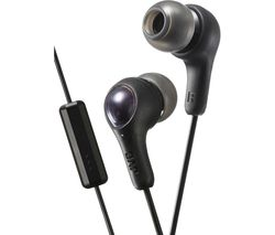 JVC Gumy Plus Headphones - Black