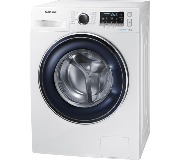 buy samsung ecobubble ww80j5555fw 8 kg 1400 spin washing machine white free delivery currys. Black Bedroom Furniture Sets. Home Design Ideas