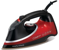 MORPHY RICHARDS Comfigrip 303118 Steam Iron - Black & Red