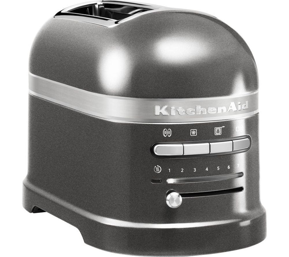 KITCHENAID Artisan 5KMT2204BMS 2-Slice Toaster - Medallion Silver, Silver