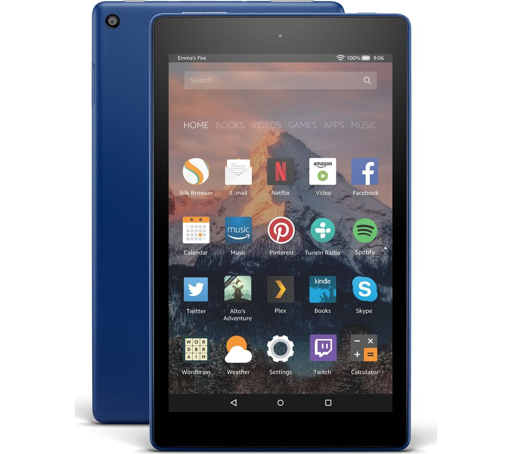 AMAZON Fire HD 8 Tablet with Alexa (2017) - 16 GB, Marine Blue