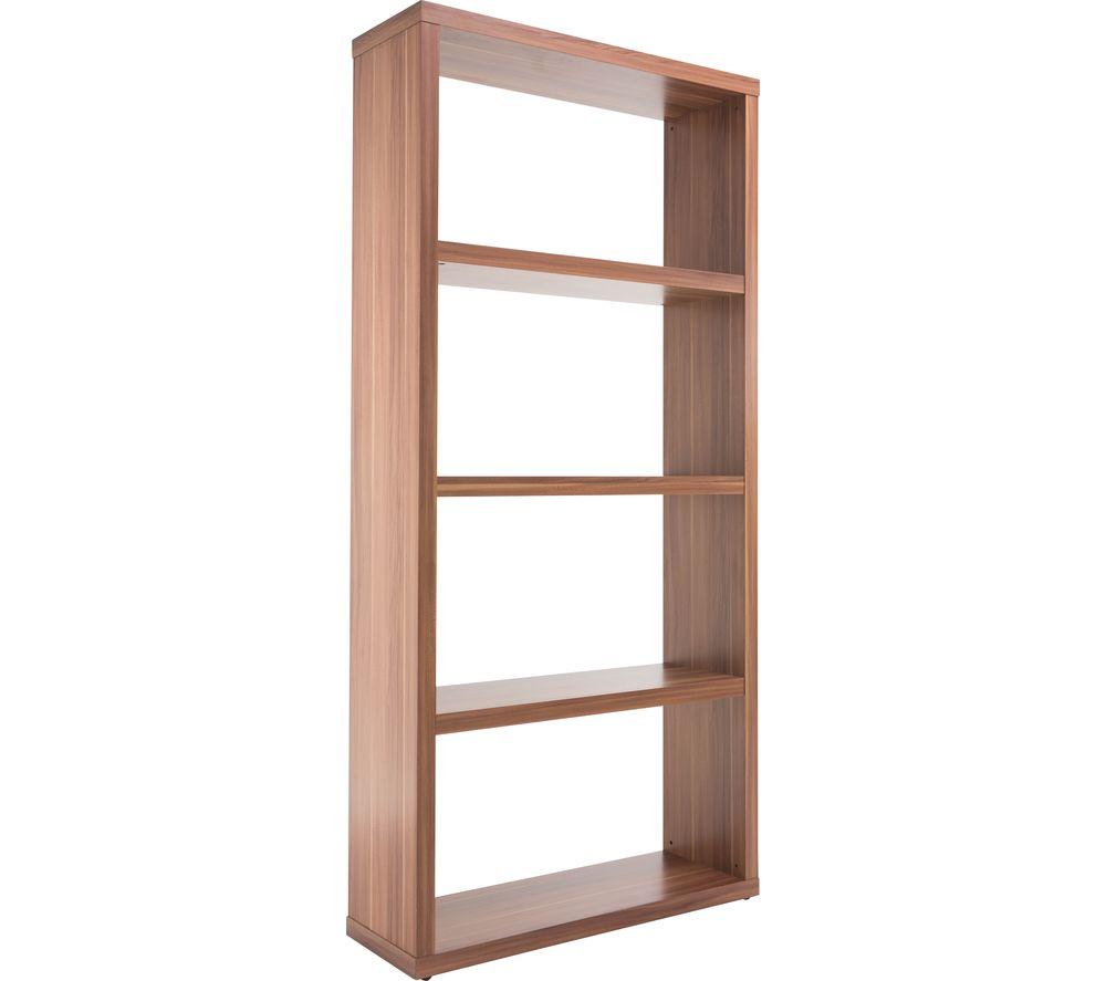 ALPHASON Maine Wide Bookcase - Walnut