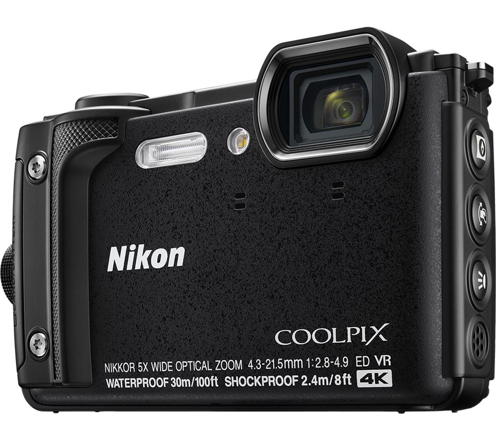 NIKON COOLPIX W300 Tough Compact Camera - Black + SWCOM13 Camera Case - Black