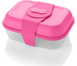 BobbleBox Rectangular 1.8-litre Lunch Box - Neon Pink