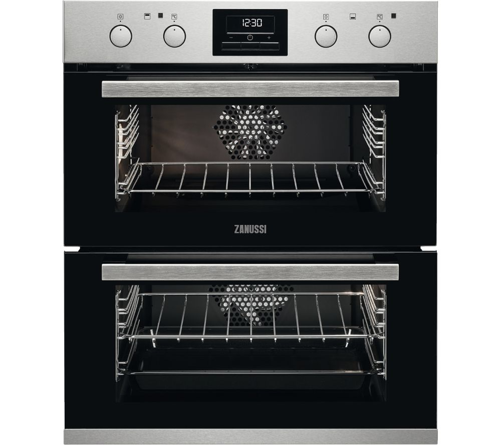 ZANUSSI ZOF35802XK Electric Built-under Double Oven - Stainless Steel