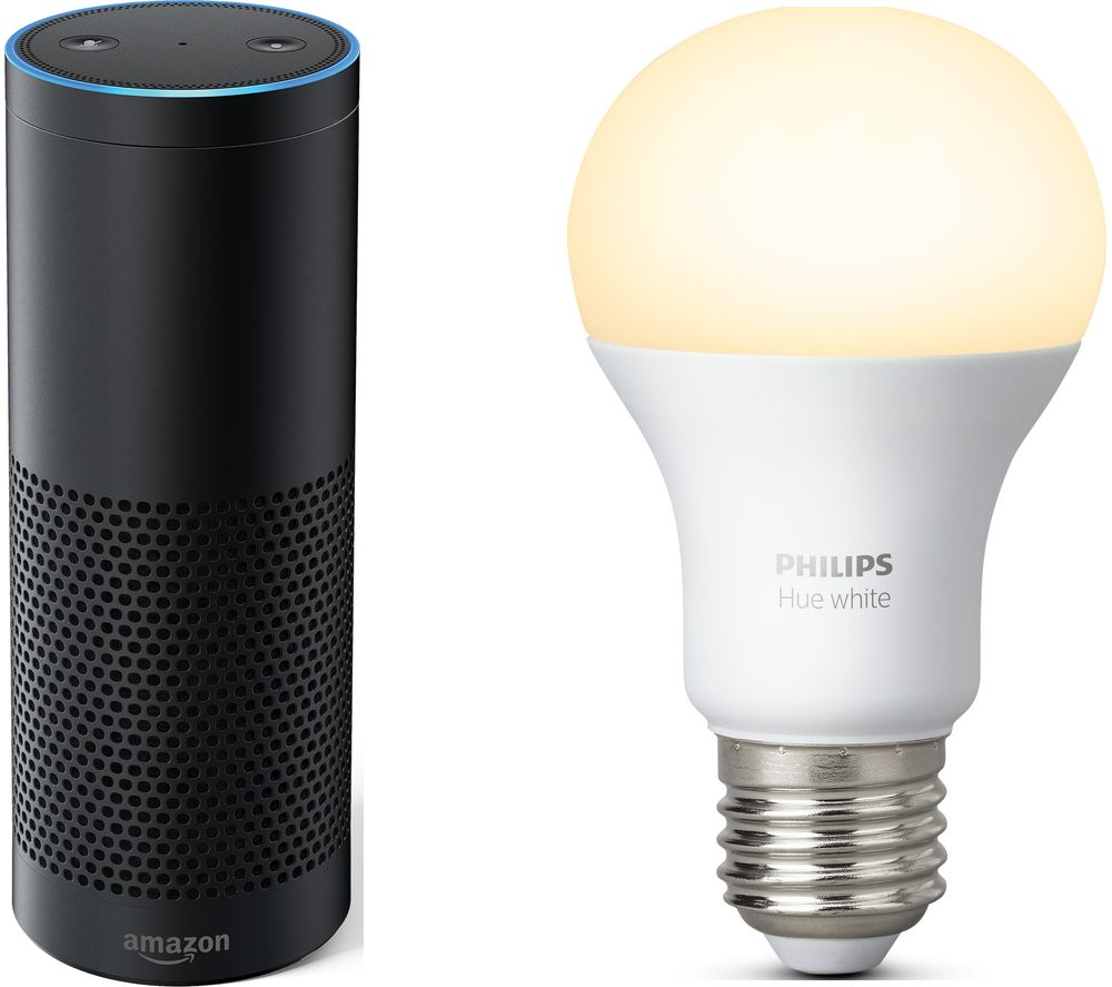 Image of AMAZON Echo Plus & Wireless Bulb Bundle, White