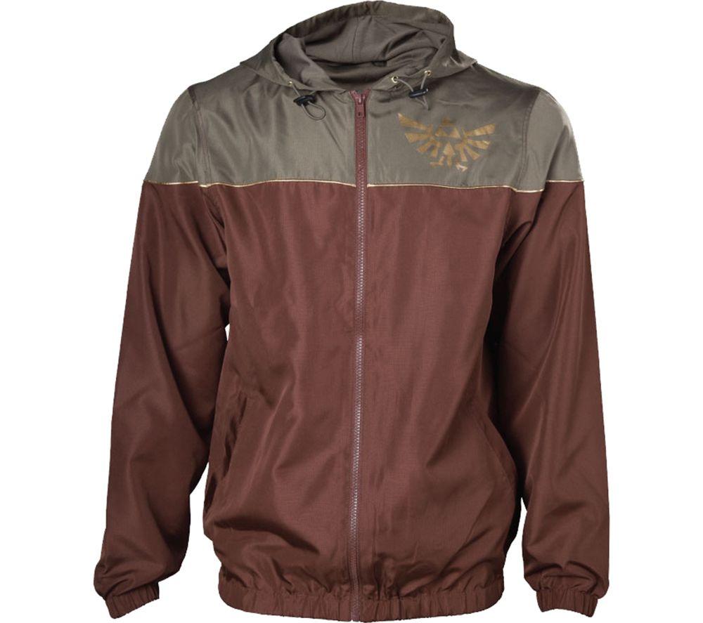 NINTENDO Zelda Windbreaker Jacket - Large, Brown