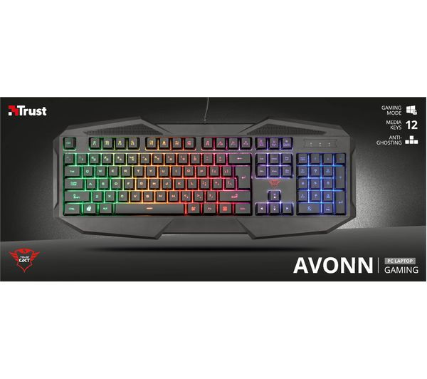 12f74b72135 TRUST GXT 830-RW Avonn Gaming Keyboard Fast Delivery | Currysie