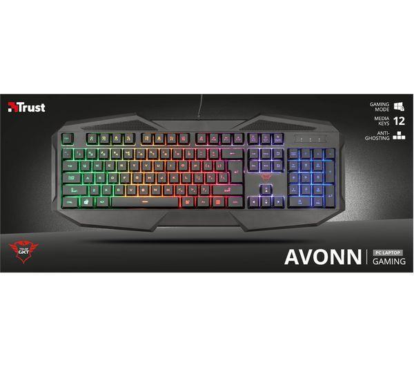 581e9cf4efa Buy TRUST GXT 830-RW Avonn Gaming Keyboard | Free Delivery | Currys
