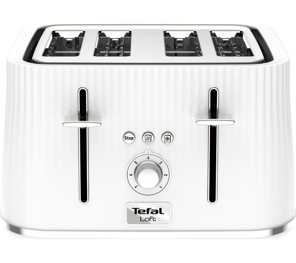 TEFAL Loft TT60140 4-Slice Toaster - Pure White