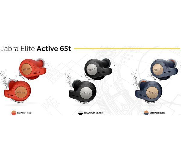 JABRA Elite Active 65t Wireless Bluetooth Headphones - Red Copper