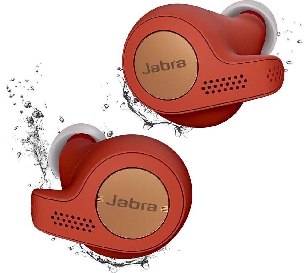 JABRA Elite Active 65t Wireless Bluetooth Headphones - Red Copper