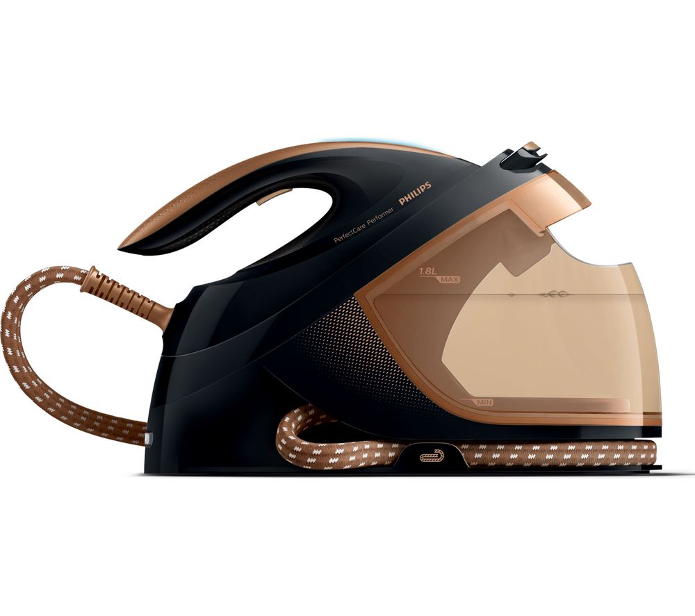Image of PHILIPS PerfectCare Performer GC8755/86 Steam Generator Iron - Black Copper, Black