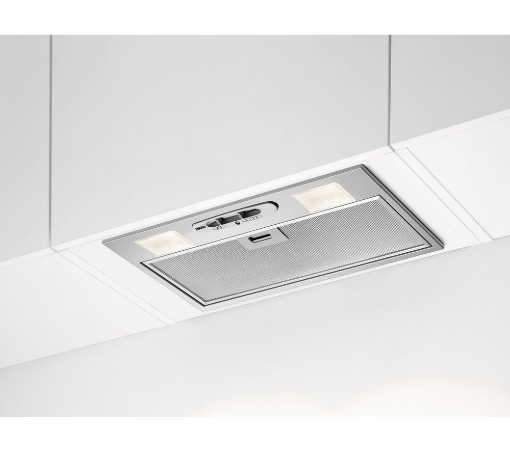 ZANUSSI ZHG5125K0GA Integrated Cooker Hood – Stainless Steel, Stainless Steel
