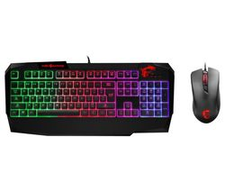 MSI Vigor GK40 Gaming Keyboard & Clutch GM10 Mouse Bundle