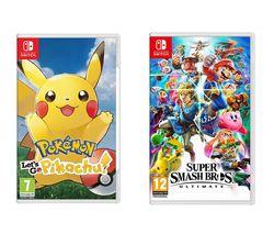 Super Smash Bros. Ultimate & Pokemon: Let's Go, Pikachu! Bundle