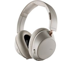 PLANTRONICS Back Beat Go 810 Wireless Bluetooth Noise-Cancelling Headphones - Bone White