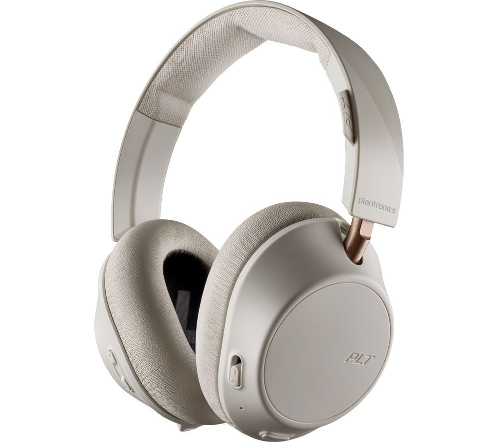 Image of PLANTRONICS Back Beat Go 810 Wireless Bluetooth Noise-Cancelling Headphones - Bone White, White