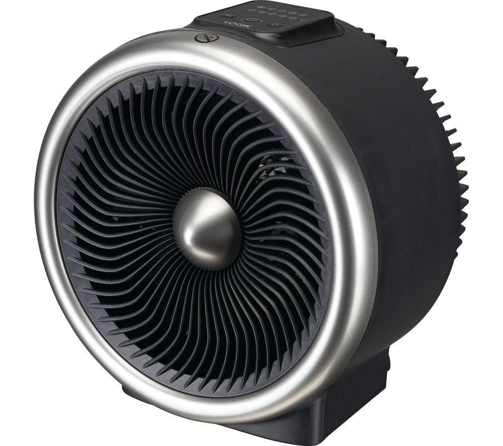L20TFH19 Portable Hot & Cool Fan Heater - Black, Black