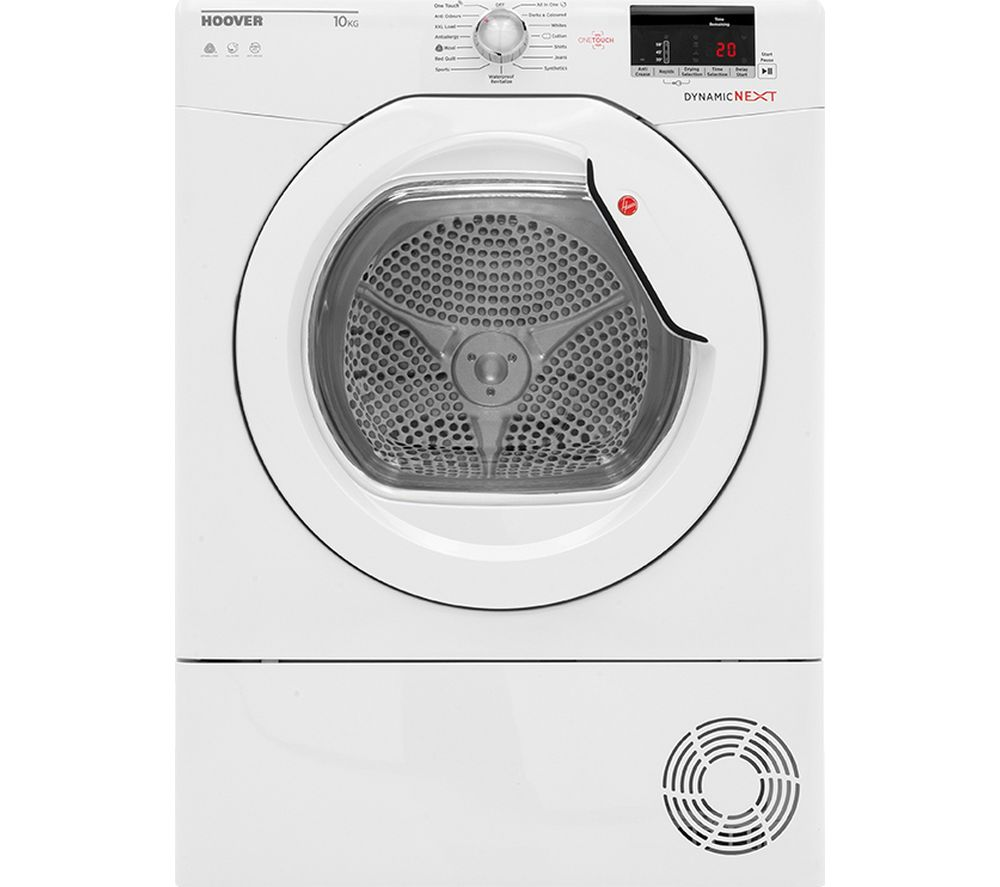 Dynamic Next DX C10DG NFC 10 kg Condenser Tumble Dryer - White, White