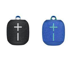 ULTIMATE EARS WONDERBOOM 2 Portable Bluetooth Speaker Black & Blue Bundle