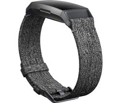 FITBIT Charge 3 Woven Band - Charcoal, Large
