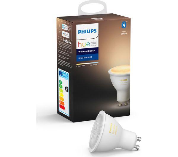 Image of PHILIPS HUE White Ambience Bluetooth LED Bulb - GU10
