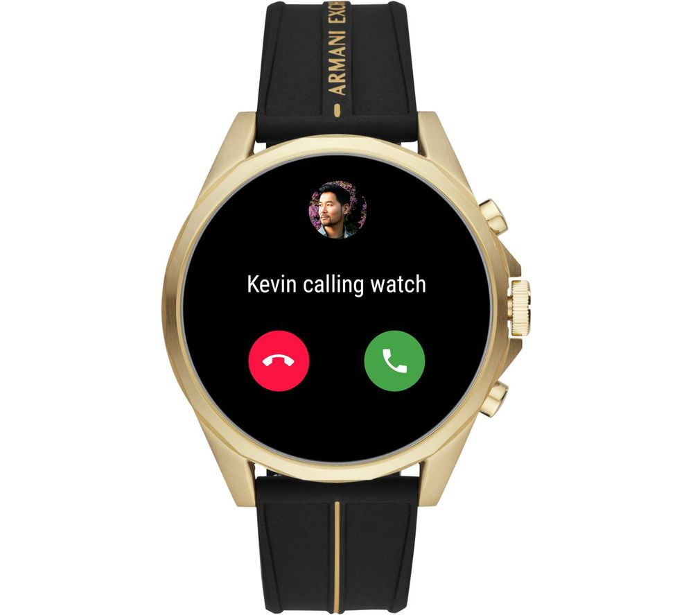 Image of AXT2005 Smartwatch - Black & Gold, Universal, Black
