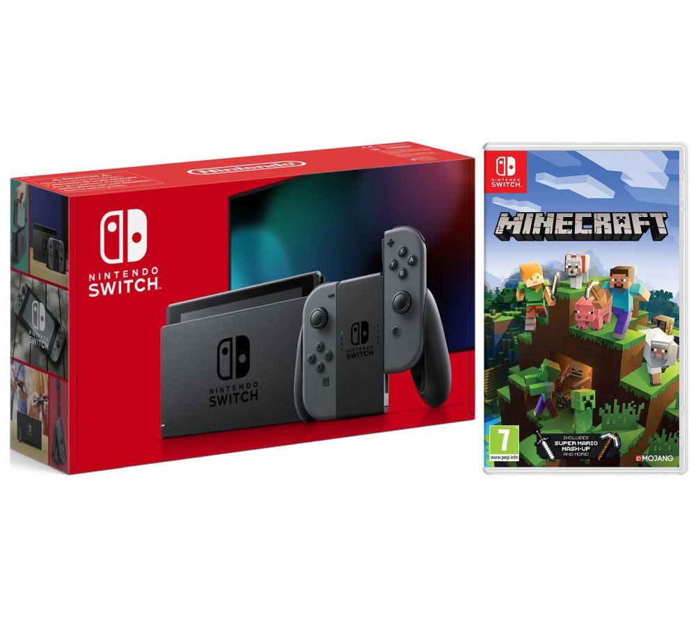 NINTENDO Switch Grey & Minecraft Bundle, Grey