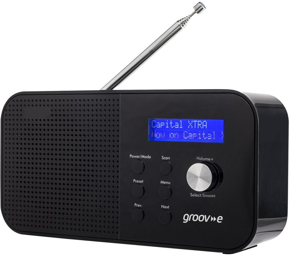 GROOV-E Venice GVDR04BK Portable Radio - Black, Black