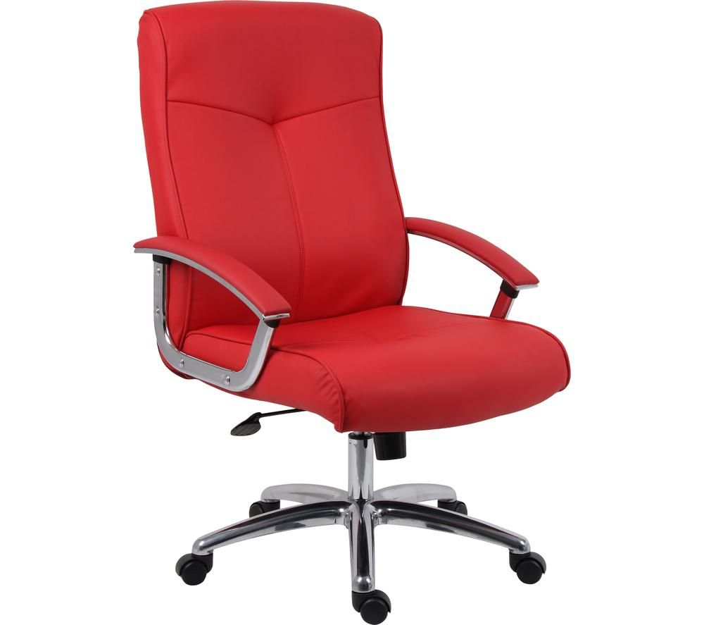 TEKNIK Hoxton Leather Tilting Executive Chair - Red