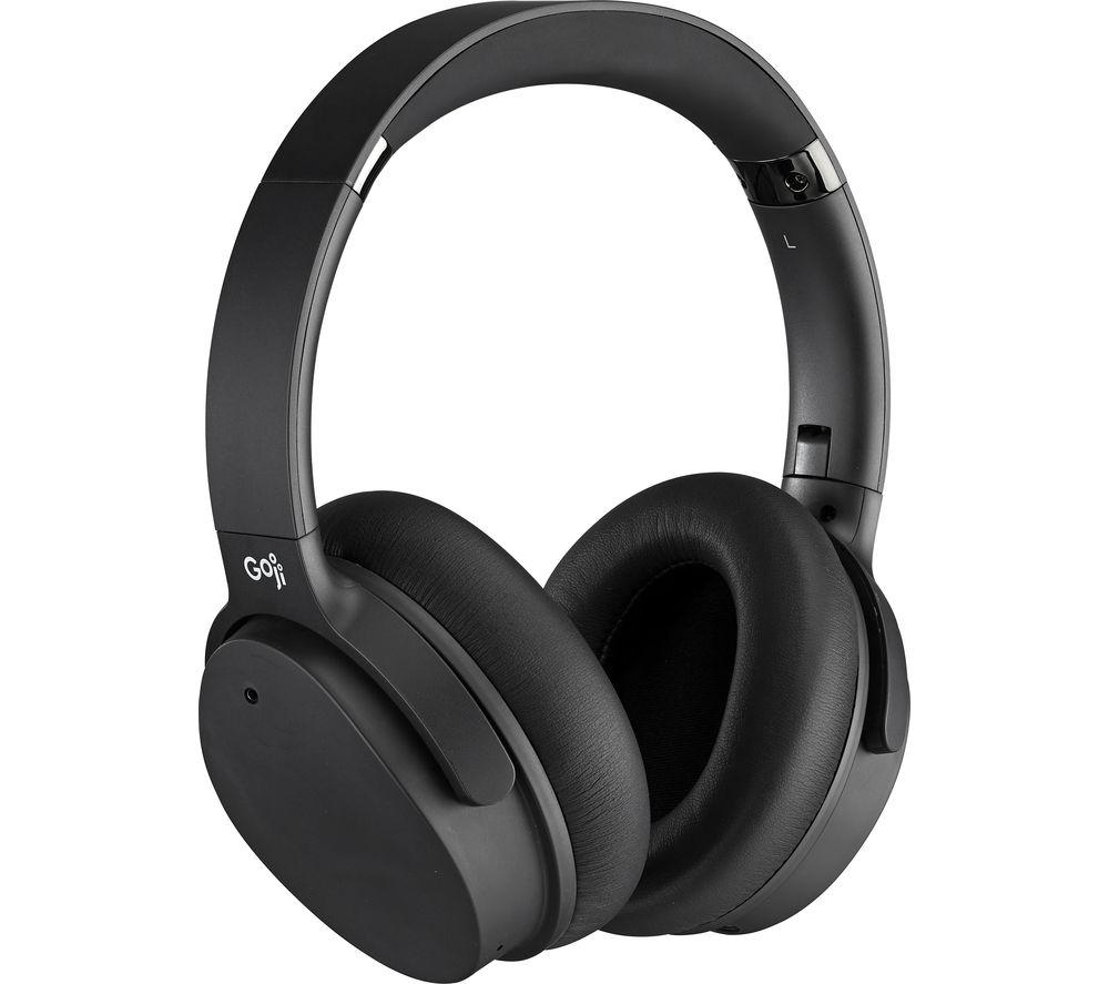 GOJI GTCNCPM21 Wireless Bluetooth Noise-Cancelling Headphones - Black