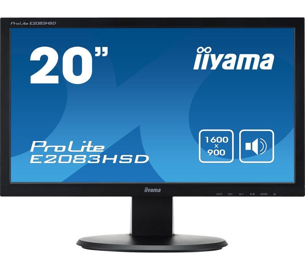 """IIYAMA ProLite E2083HSD-1 20"""" LCD Monitor - Black"""