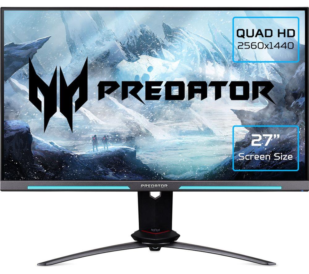 ACER Predator XB273UGS Quad HD 27 inch IPS Gaming Monitor - Black