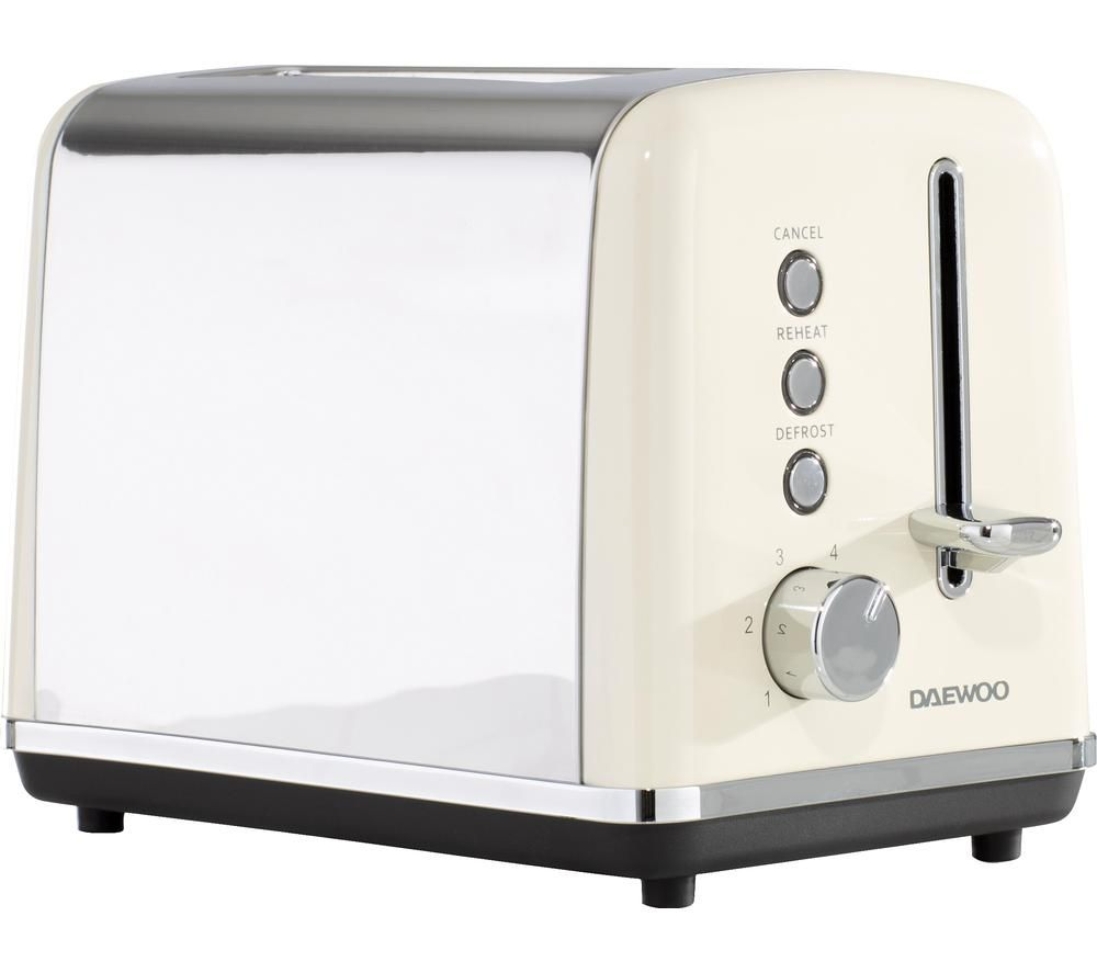 DAEWOO Kensington SDA1582 2-Slice Toaster - Cream, Cream