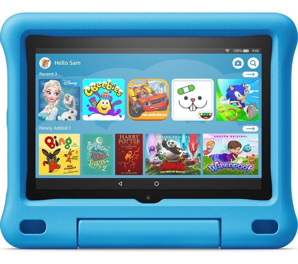 """Image of AMAZON Fire HD 8"""" Kids Edition Tablet (2020) - 32 GB, Blue, Blue"""