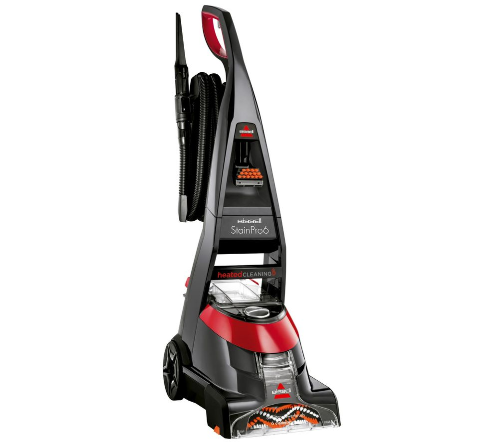 BISSELL Stain Pro 6 20096 Upright Carpet Cleaner - Red & Titanium