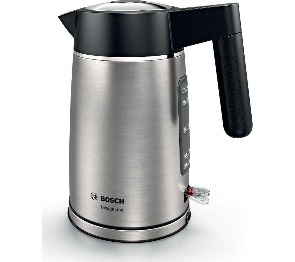 BOSCH DesignLine TWK5P480GB Jug Kettle - Black & Silver, Black