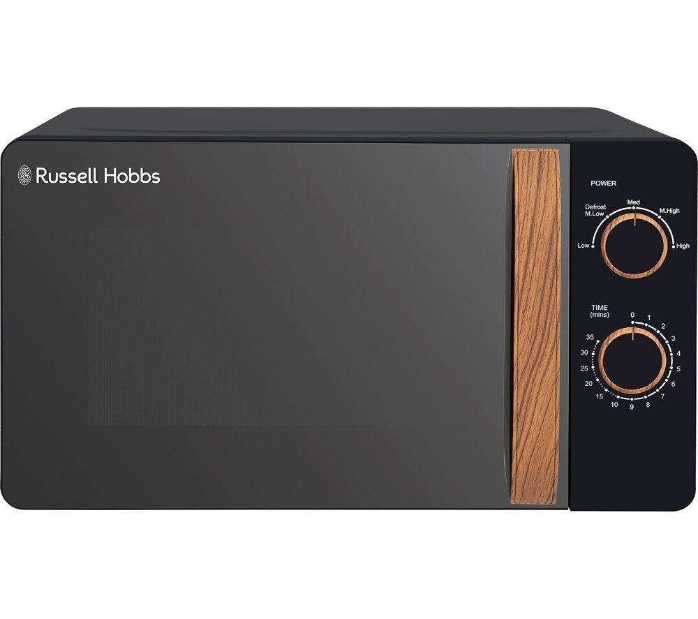 RUSSELL HOBBS RHMM713B-N Compact Solo Microwave - Black, Black