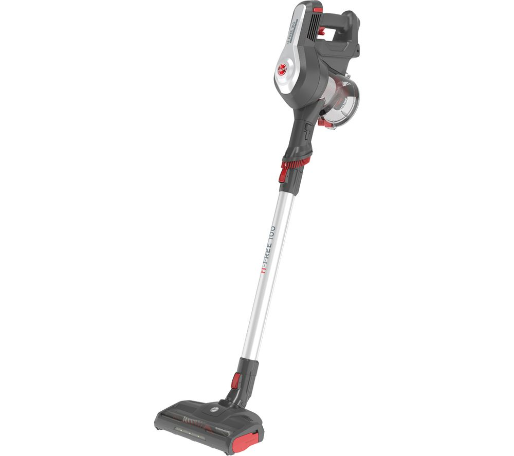 HOOVER H-FREE 100 Home HF122GH Cordless Vacuum Cleaner - Grey, Silver & Red