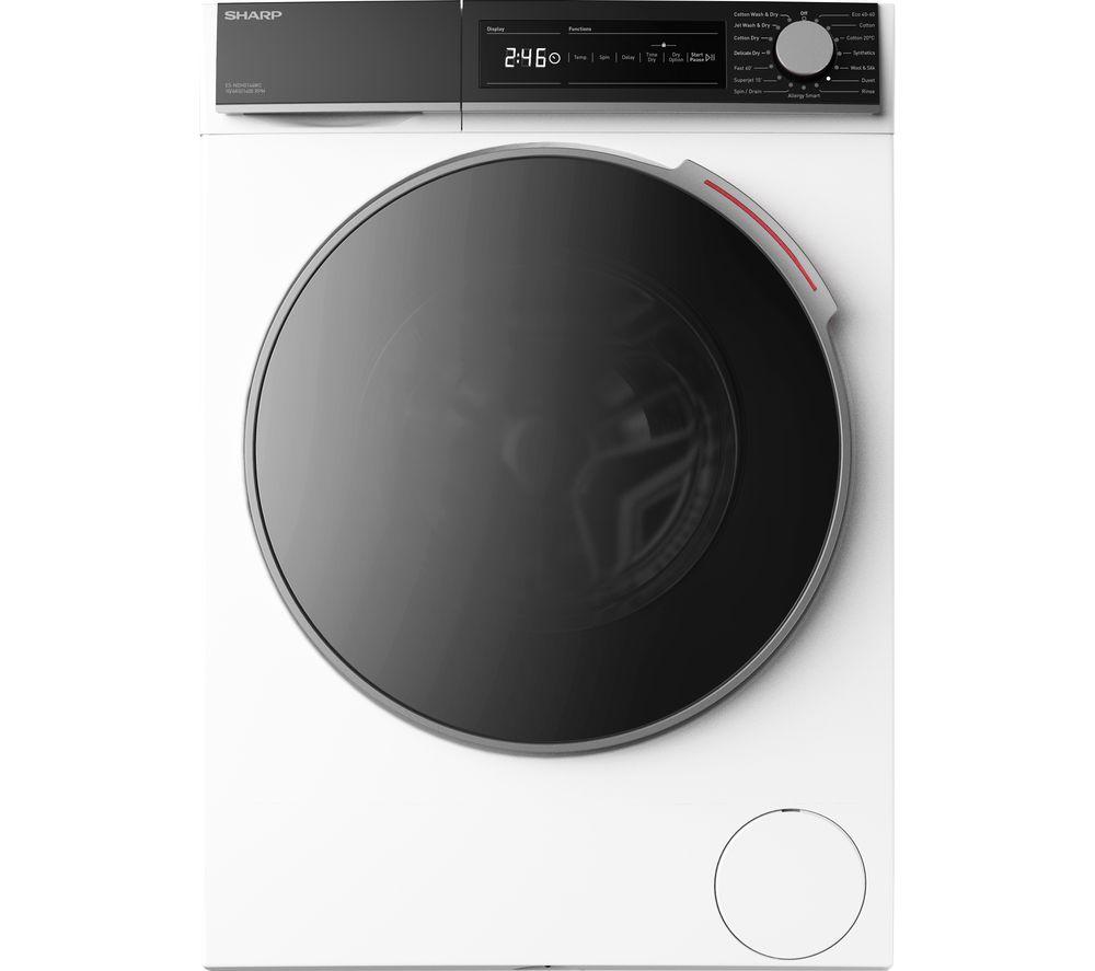 SHARP ES-NDH0144WC-EN 10 kg Washer Dryer - White