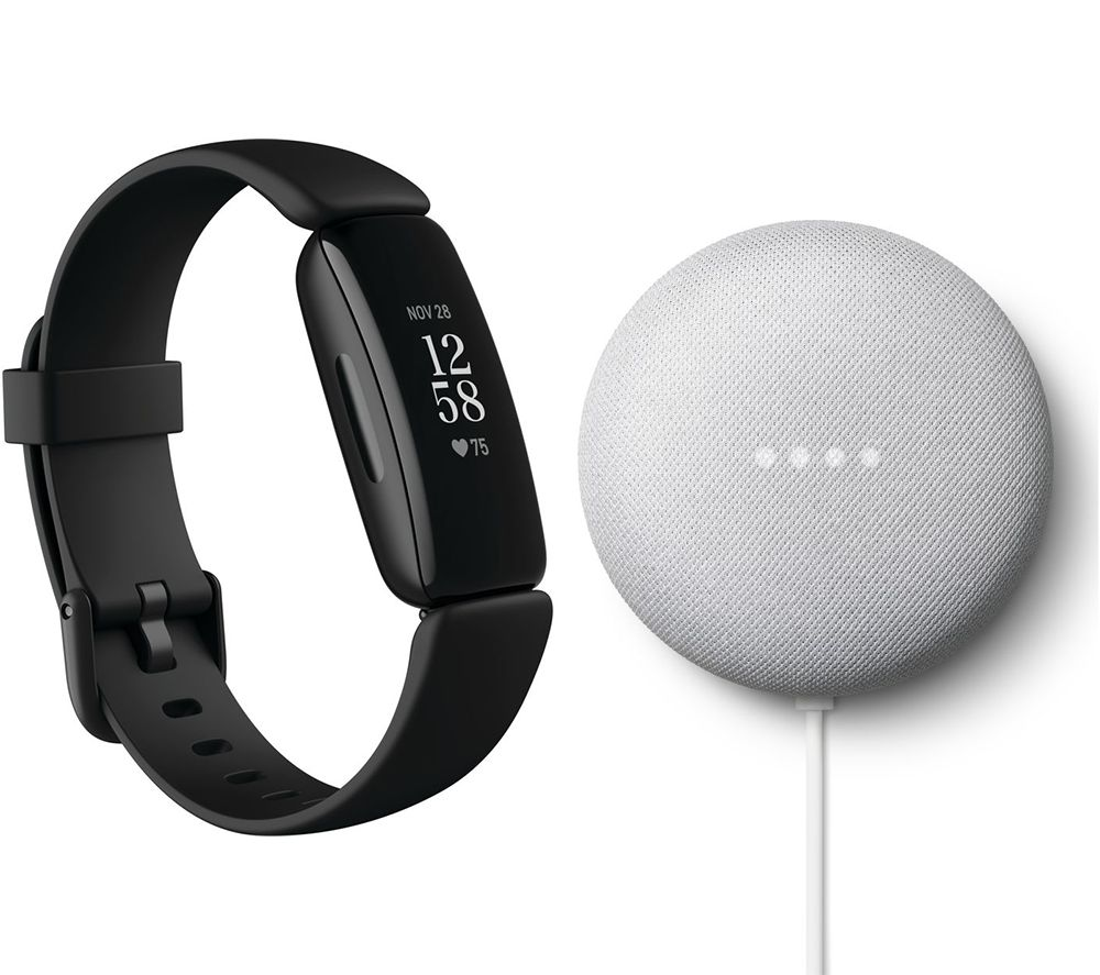 FITBIT Inspire 2 & Nest Mini (2nd Gen) Bundle - Black & Chalk