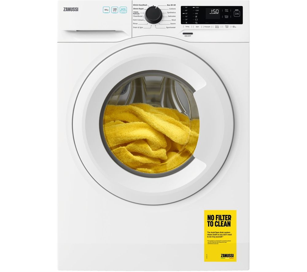 Zanussi ZWF144A2PW AutoAdjust 10kg 1400rpm Freestanding Washing Machine - White