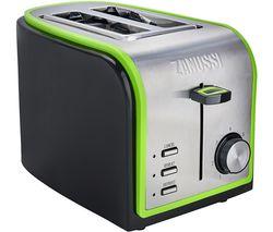 ZST-6579-GN 2-Slice Toaster - Grey & Green