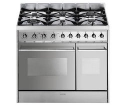 SMEG C92DX8 Dual Fuel Range Cooker - Stainless Steel Best Price, Cheapest Prices