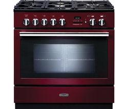 RANGEMASTER Professional+ FXP 90 Dual Fuel Range Cooker - Cranberry & Chrome