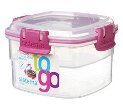 SISTEMA Square 400 ml Snacks to Go Box