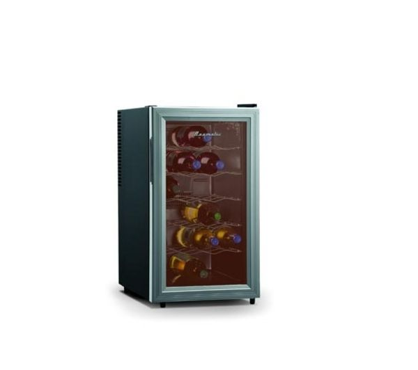 BAUMATIC BW18 Wine Cooler - Black & Aluminium